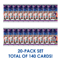 2018-19 TOPPS MATCH ATTAX CHAMPIONS LEAGUE 20 PACKS TOTAL 140 CARDS! - $24.95