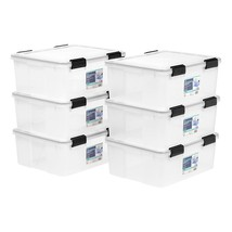 IRIS 30 Quart WEATHERTIGHT Storage Box, 6 Pack, Clear - $156.99 CAD