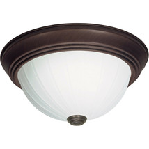 Nuvo Lighting 60/449 Two Light Flush Mount with Frosted Melon Glass, Old... - $28.04