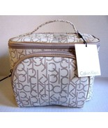 New Calvin Klein CK Logo Women 2 Pc Cosmetic Make-Up Bags Variety Color - $64.99