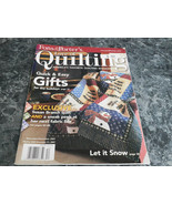 Fons & Porter's Love of Quilting Magazine November December 2007 Antique... - $2.99