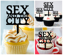 Mo10 Decorations cupcake toppers sex and the city silhouette Package : 1... - $10.00