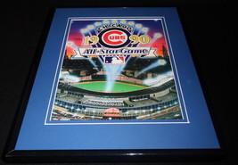 1990 MLB All Star Game Framed ORIGINAL Program Cover Chicago Julio Franc... - $25.82
