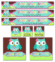 Whimsical Owl Etsy Banner Avatar Reserved Thank You Ready-made Customized - $15.00
