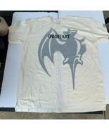 Mens Bacardi Oakheart Bat T-shirt XL Beige Short Sleeve Shirt 100% Cotton - $18.00