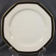 Christopher Stuart Black Dress Y0009 Dinner Plates Octagonal White Black... - $19.75
