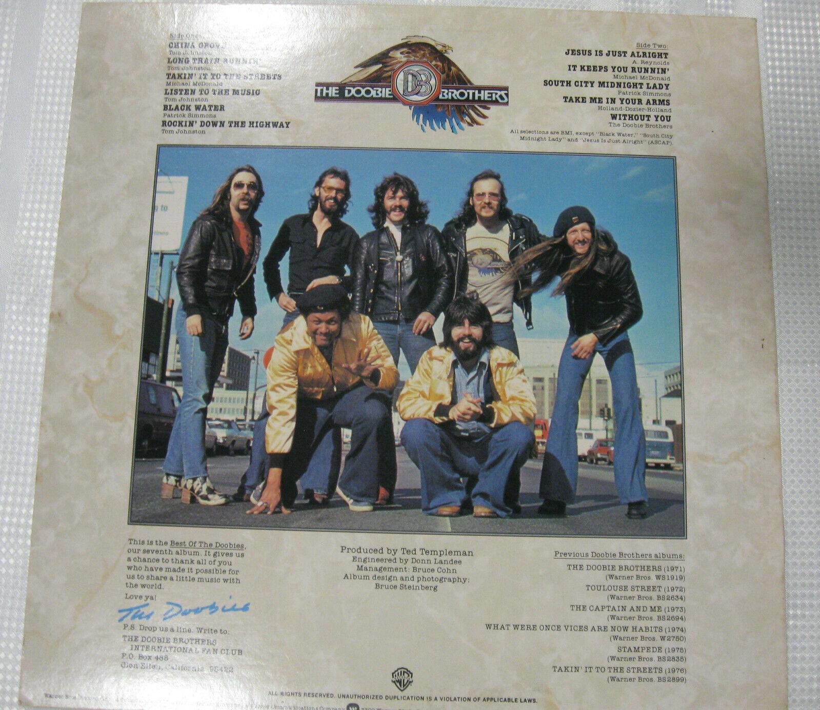 The Doobie Brothers Best Of Warner Bros BS 2978 Stereo Vinyl LP image 2