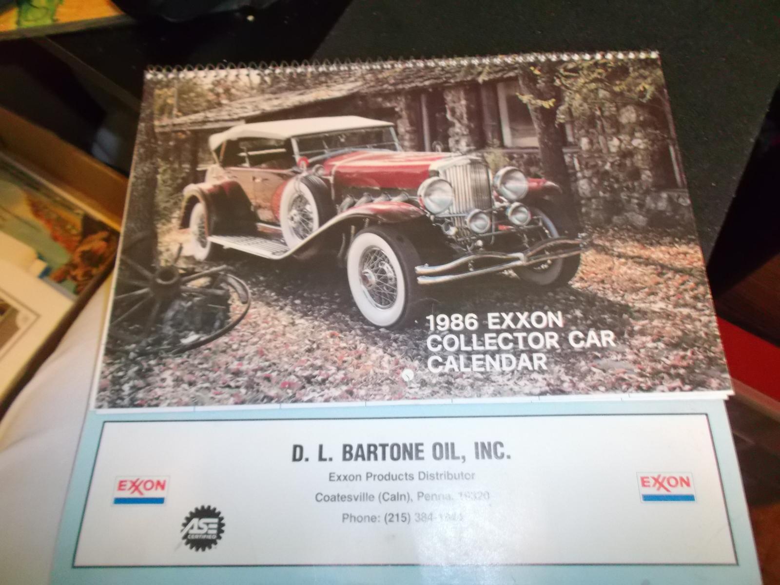 Original 1986 EXXON Collector Car Calendar and similar items