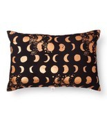1 Oh Joy! Sparkling Moons Pillow Target Celestial Moon Phases Black Copper - £18.43 GBP