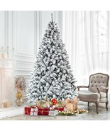 7.5ft Snow Flocked Hinged Artificial Christmas Tree - $172.14