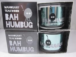 4 Bath & Body Works mini 1.3 oz Candle Bah Humbug Mahogany Teakwood - $39.99