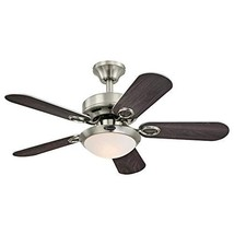 Westinghouse Lighting 7230300 Cassidy Indoor Ceiling Fan with Light, 36 Inch, Br - $171.27