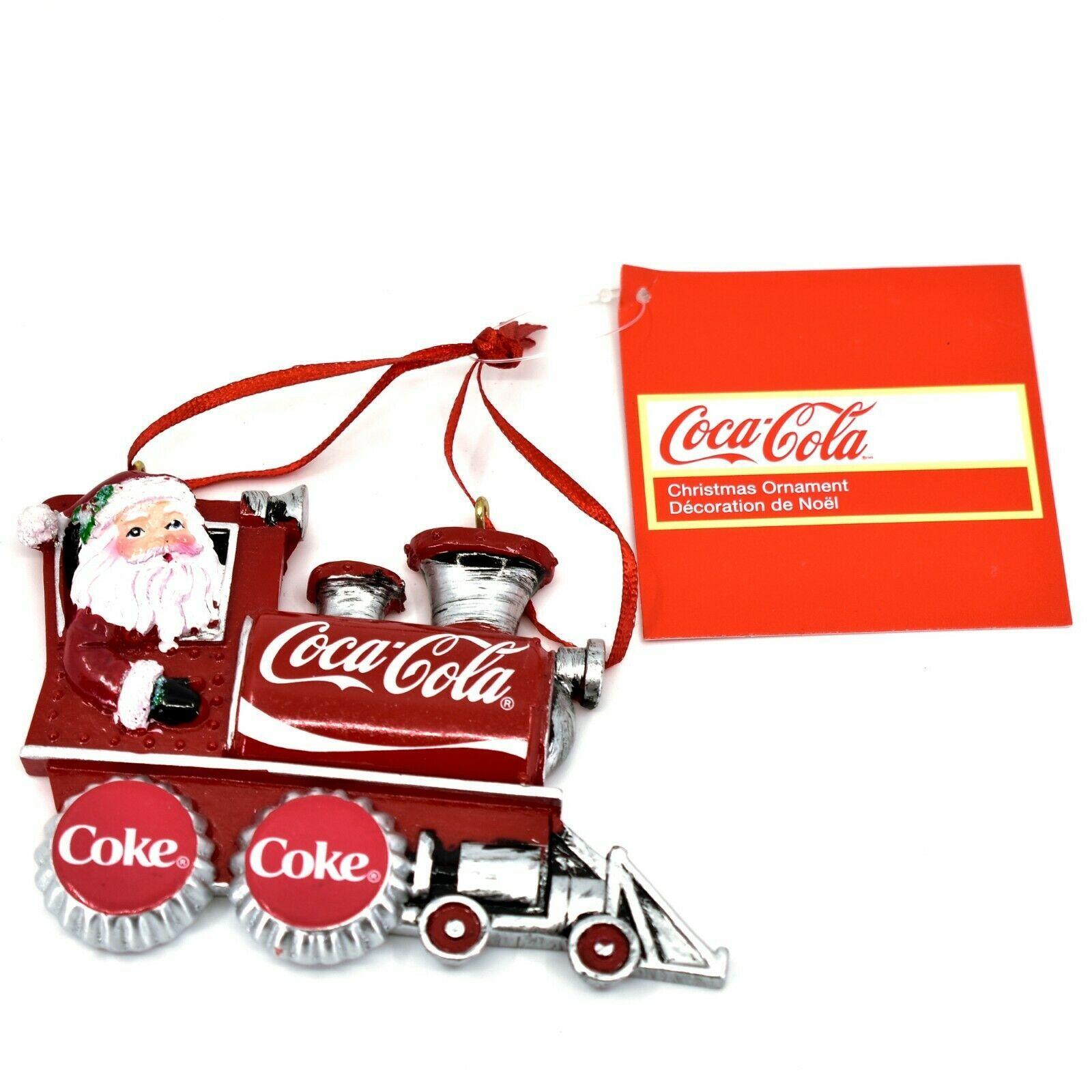 Kurt S. Adler Santa Claus Driving Coca-Cola Train Christmas Ornament CC2183