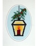 Hanging Lantern christmas holiday cross stitch ... - $5.40