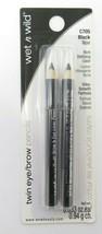 Wet n Wild Twin Eye/Brow Pencils, Black C705 *Four Pack* - $15.29