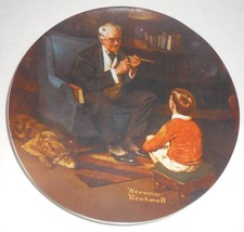 Norman Rockwell The Tycoon 8-1/2 inch Collector Knowles Limited Edition ... - $14.01