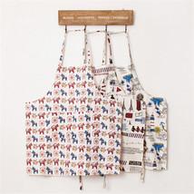 Cartoon Tower Cotton Linen Vintage Kitchen Adult Children Wear Apron Pin... - $7.10