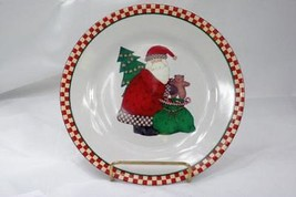 Sakura 1998 Magic Of Santa Dessert Plate Santa Bent Over His Gift Bag - $3.46
