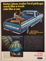 1970 Print Ad Ford Pickup Trucks Explorer Special Value Model - $9.70