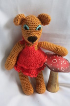 Handcrafted Honey Teddy Bear Girl Soft Toy - Crochet Animal - Amigurumi ... - $39.00