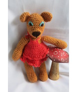 Handcrafted Honey Teddy Bear Girl Soft Toy - Crochet Animal - Amigurumi ... - $742,64 MXN