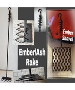 Combo Fireplace/Box Ember Shovel & Ember/Ash Rake ,Custom Length,Blacksm... - $76.97+