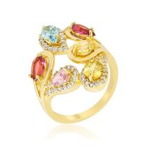 Multi-Color Cocktail Ring - $56.00