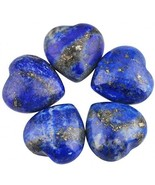 SUNYIK Natural Lapis Lazuli Pocket Mini Puff Heart Worry Healing Palm St... - $35.41