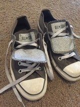 Converse All Star Gray And Silver Sparkly Unisex Size 3 Women's Size 5 - $15.00