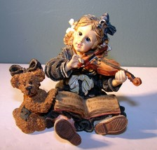 LINDSEY WITH LOUISE VIOLIN BOYDS YESTERDAYS CHILD DOLLSTONE COLLECTION #... - $14.36