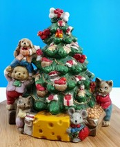 Christmas Tree Animals Porcelain Holiday Decor Collectibles Classic Vint... - $35.44