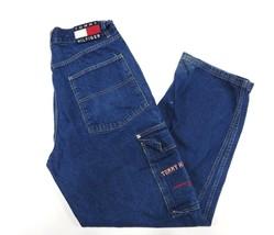 90s Retro TOMMY HILFIGER Blue Classic Jeans Adult Men's Size 33/32 100% Cotton - $59.35