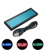 Multi Color Scrolling Message LED Name Pin Badge Dots Rechargeable Text ... - $22.99