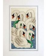 Days of Christmas Seventh Day holiday cross stitch card chart Linda Jean... - $5.40