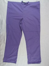 Women's Scrub Pants Absolute Size M Waist Tie 2 Cargo Pockets Purple - $9.08