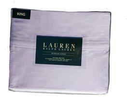 Ralph Lauren Dunham Hyacinth Pale Lavender Sheet Set King - $99.00