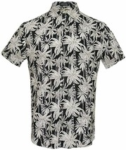 LINCINK Mens Hawaiian Shirt Coconut Tree Casual Button Down Short Sleeve... - $41.63