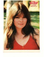 Valerie Bertinelli teen magazine pinup clipping red shirt close up long ... - $3.50