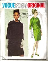 Vintage 1960's Misses JACKET & SKIRT VOGUE PARIS ORIGINAL Pattern #1662 ... - $24.99
