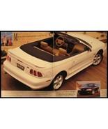 1996 Ford Mustang Dealer Sales Brochure,  GT Convertible Coupe Original ... - $5.92