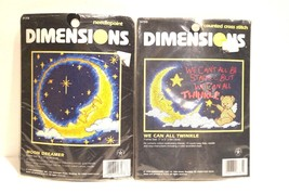 Dimensions We Can All Twinklw & Moon Dreamer Counted Cross Stitch Kits - $13.97