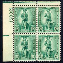 1942 25c War Saving Stamp - Minute Man, Plate Block of 4 Scott WS8 Mint ... - $9.99