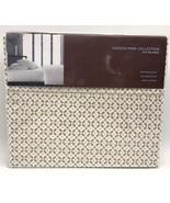 Twin Hudson Park 500 Thread Count Cotton Printed Tiles Flat Sheet Champa... - $29.99