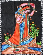 "Traditional Rajasthani Wall Hanging Tapestry By Mango Gifts India 16"" X 21"" Inch - $12.86"