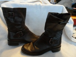 Women's brown mid calf Aerosole boots size 6M  - $16.00