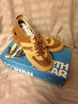 Vtg North Star Mates Brown Suede Leather Sneakers 13.5 Made In Canada Nos - $10.34