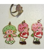 Vintage strawberry shortcake jewelry - ring  pendent's - $57.00
