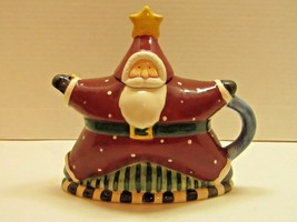 Sakura Debbie Mumm Hand-Painted Santa Teapot - $19.80