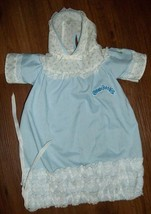 CABBAGE PATCH KIDS BLUE Drawstring Gown Sleeper Nightgown w Rosebuds Hood - $14.84