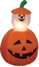 4 Foot Animated Halloween Inflatable Pumpkin and Ghost LED Lights Decor ... - $94.41